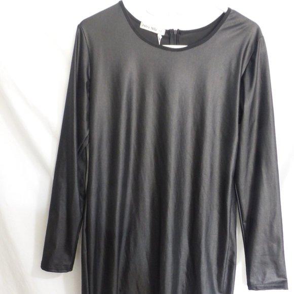 PETRO NILA, xxl, black dress, zip up back, BNWT